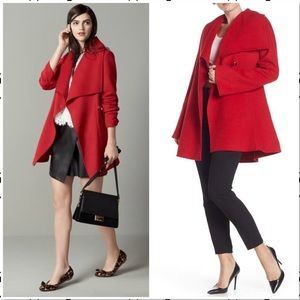Laundry One Button Shawl Collar Wool Blend Coat XS